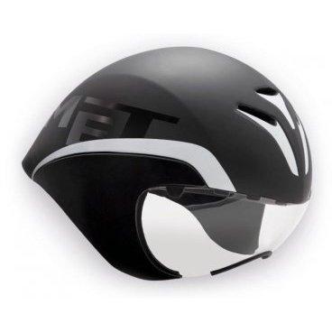 Велошлем MET Drone, черно-белыйВелошлемы<br>Оригинальный аэродинамичный шлем для тех, кто стремится к настоящим рекордам. Уникальная каплевидная форма шлема вкупе с увеличенной шириной позволяет выводить встречные потоки воздуха над плечами гонщика – ведь именно выступающие при езде плечи создают дополнительное сопротивление воздушному потоку. Испытания в аэродинамической трубе показали, что на скорости в 50 км/ч шлем позволяет сэкономить до 10 ватт полезной мощности, что довольно-таки немало. При этом шлем отлично вентилируется благодаря особой системе воздуховодных каналов. А кроме того, в комплекте вы получаете уникальную линзу на магнитном креплении.<br><br><br><br>ОСОБЕННОСТИ<br><br><br><br>Оригинальный аэродинамичный шлем от Met<br><br>Позволяет сэкономить до 10 ватт мощности на скорости в 50 км/ч<br><br>Отлично вентилируется благодаря особой системе воздуховодных каналов<br><br>В комплекте – прозрачная линза на магнитном креплении<br><br>Фирменная система застёжек под названием Safe-T Advanced<br><br>Стропы застёжек выполнены из сверхлёгкого текстиля<br>