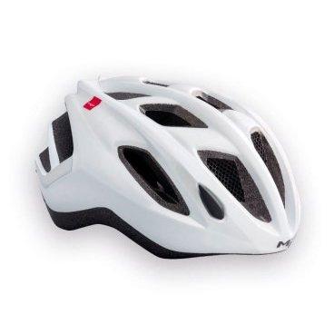 Велошлем MET Espresso, белыйВелошлемы<br>Лёгкий универсальный шлем от Met, достаточно безопасный для серьёзных занятий спортом и достаточно удобный для того, чтобы вы забыли о нём во время езды. Его основные особенности – увеличенная затылочная часть, удобная регулируемая застёжка из лёгкого текстиля и впаянный в жёсткий корпус пенопластовый внутренник, обеспечивающий лучшую абсорбацию ударов. <br>ОСОБЕННОСТИ<br><br><br><br>Максимально лёгкий и технологичный универсальный шлем<br><br>Монолитная конструкция – пенопластовый внутренник впаян в жёсткий корпус шлема<br><br>Сменные внутренние накладки из гипоаллергенного материала<br><br>Светоотражающие наклейки<br><br><br><br><br><br>Вес: 265 граммов<br>