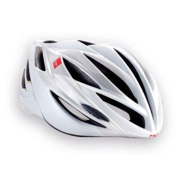 Велошлем MET Forte, бело-серыйВелошлемы<br>Классический шоссейный шлем, сочетающий в себе лёгкость, компактность и обтекаемую форму. Впаянный в жёсткий корпус пенопластовый внутренник обеспечивает высокую надёжность шлема и лучшую абсорбацию ударов. Forte выпускается во множестве цветовых решений, а его размер можно менять от 52 до 62см. Фирменная система застёжек под названием Strong Fit легко регулируется и надёжно фиксирует шлем на голове.<br><br><br><br>ОСОБЕННОСТИ<br><br><br><br>Классический шоссейный шлем – лёгкий, надёжный и хорошо вентилируемый<br><br>Монолитная конструкция – пенопластовый внутренник впаян в жёсткий корпус шлема<br><br>Сменные внутренние накладки из гипоаллергенного материала<br><br>Фирменная система застёжек под названием Strong Fit<br><br>Вес: 245-300 граммов (в зависимости от размера)<br>
