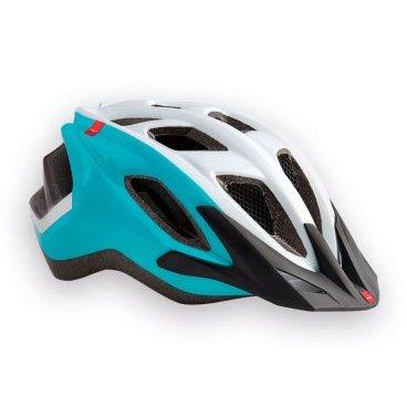 Велошлем MET Funandgo, бело-зеленыйВелошлемы<br>Лёгкий универсальный шлем от Met, достаточно безопасный для серьёзных занятий спортом и достаточно удобный для того, чтобы вы забыли о нём во время езды. Его основные особенности – увеличенная затылочная часть, удобная регулируемая застёжка из лёгкого текстиля, впаянный в жёсткий корпус пенопластовый внутренник, обеспечивающий лучшую абсорбацию ударов, и съёмный козырёк, защищающий глаза от солнца и ветвей деревьев. <br>ОСОБЕННОСТИ<br><br><br><br>Максимально лёгкий и технологичный универсальный шлем<br><br>Монолитная конструкция – пенопластовый внутренник впаян в жёсткий корпус шлема<br><br>Съёмный козырёк<br><br>Отверстия для вентиляции закрыты москитной сеткой<br><br>Сменные внутренние накладки из гипоаллергенного материала<br><br>Светоотражающие наклейки<br><br><br>Вес: 320 граммов<br>