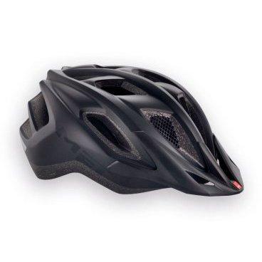 Велошлем MET Funandgo, матовый черныйВелошлемы<br>Лёгкий универсальный шлем от Met, достаточно безопасный для серьёзных занятий спортом и достаточно удобный для того, чтобы вы забыли о нём во время езды. Его основные особенности – увеличенная затылочная часть, удобная регулируемая застёжка из лёгкого текстиля, впаянный в жёсткий корпус пенопластовый внутренник, обеспечивающий лучшую абсорбацию ударов, и съёмный козырёк, защищающий глаза от солнца и ветвей деревьев. <br><br><br><br>ОСОБЕННОСТИ<br><br><br><br>Максимально лёгкий и технологичный универсальный шлем<br><br>Монолитная конструкция – пенопластовый внутренник впаян в жёсткий корпус шлема<br><br>Съёмный козырёк<br><br>Отверстия для вентиляции закрыты москитной сеткой<br><br>Сменные внутренние накладки из гипоаллергенного материала<br><br>Светоотражающие наклейки<br>