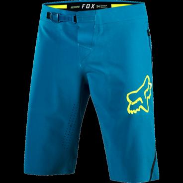 Велошорты Fox Attack Pro Short, Размер: М (W32), синий, 18604-176-32Велошорты<br>Классические шорты, которые идеально подойдут для трейлрайдинга и катания в стиле ол-маунтин. Модель выполнена из эластичного синтетического материала. Пристежная подкладка со вставками из пеноматериала в критических местах обеспечивает дополнительный комфорт во время длительных поездок.<br><br><br><br>ОСОБЕННОСТИ<br><br><br><br>Материал: 100% - полиэстер<br><br>Перфорация по бокам обеспечивает лучшую вентиляции<br><br>Пристежная подкладка со вставками из пеноматериала в критических местах<br><br>Регулируемый потайной пояс<br><br>Карманы на молниях<br>