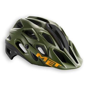 Велошлем MET Lupo, зелено-черно-оранжевыйВелошлемы<br>Новый шлем от Met, разработанный для трейлрайдинга и катания в стиле ол-маунтин. Этот шлем эффективно защищает затылочную и боковые части головы, и, кроме того, он превосходно вентилируется. А кевларовые стропы и гипоаллергенная гелевая вставка в передней части шлема обеспечивают дополнительную надёжность и комфорт.<br><br><br><br>ОСОБЕННОСТИ<br><br>Лёгкий и надёжный шлем для трейлрайдинга и катания в стиле ол-маунтин<br>Съёмный регулируемый козырёк<br>Кевларовые стропы застёжек<br>Гипоаллергенная гелевая вставка в передней части<br>Хорошо совместим как с классическими очками, так и с масками на резинке<br>