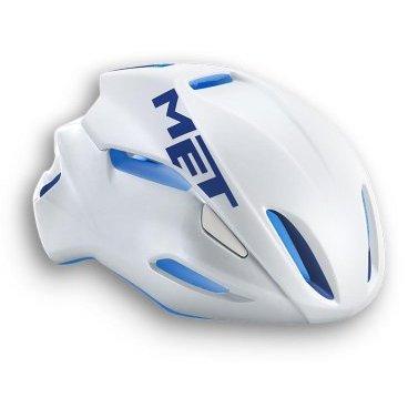 Велошлем MET Manta, бело-синийВелошлемы<br>Manta - самый лёгкий и современный шлем от Met, который отлично показал себя при испытаниях в аэродинамической трубе. Особая форма этого шлема позволяет гонщику экономить до 10 ватт мощности при скорости в 50 км/ч (по сравнению с аналогичными моделями) – посудите сами, это действительно очень много. Заметим, что при этом Manta отлично вентилируется и отличается сверхмалым весом – всего 200 граммов. Лучший выбор для тех, кто серьёзно относится к соревнованиям и стремится показывать наилучшие результаты.<br><br><br><br>ОСОБЕННОСТИ<br><br><br><br>Самый лёгкий и аэродинамичный шоссейный шлем от Met<br><br>Монолитная конструкция – пенопластовый внутренник впаян в жёсткий корпус шлема<br><br>Большие отверстия для вентиляции<br><br>Сменные внутренние накладки из гипоаллергенного материала<br><br>Фирменная система застёжек под названием Safe-T Advanced<br><br>Стропы застёжек выполнены из сверхлёгкого текстиля<br><br>Светоотражающая наклейка сделает вас заметнее в тёмное время суток<br><br>Отвечает требованиям таких стандартов безопасности, как CE, AS и CPSC<br>