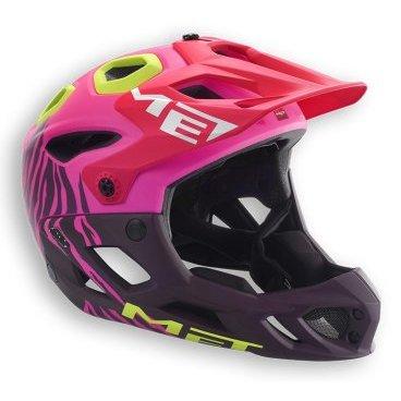 Велошлем MET Parachute, матовый розовыйВелошлемы<br>Met Parachute - самый лёгкий фулл-фейс в мире, предназначенный для эндуро. Он обеспечивает более чем оптимальную вентиляцию головы и, разумеется, защиту, достаточную даже для даунхила. Пенопластовый внутренник шлема впаян в жёсткий корпус – таким образом, шлем представляет собой монолитную конструкцию, и энергия удара эффективнее распределяется между двумя оболочками. Шлем соответствует требованиям стандарта безопасности American ASTM F 1952 – собственно, это единственный существующий стандарт для велосипедных шлемов типа фулл-фейс. Кроме того, данная модель не ограничивает слышимость – вы будете отчётливо слышать окружающие вас звуки. <br>ОСОБЕННОСТИ<br> Самый лёгкий фулл-фейс в мире <br>Монолитная конструкция – пенопластовый внутренник впаян в жёсткий корпус шлема <br>Не ограничивает слышимость<br> Несъёмная защита челюсти <br>Специальные пазы для резинки маски <br>Сменные внутренние накладки из гипоаллергенного материала<br> Отверстия в козырьке для дополнительной вентиляции <br>Съёмный крепёж для экшн-камеры Вес: 700-740 граммов (в зависимости от размера)<br>