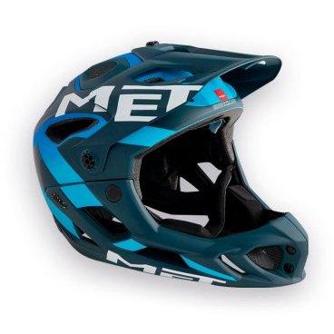 Велошлем MET Parachute, сине-голубойВелошлемы<br>Met Parachute - самый лёгкий фулл-фейс в мире, предназначенный для эндуро. Он обеспечивает более чем оптимальную вентиляцию головы и, разумеется, защиту, достаточную даже для даунхила. Пенопластовый внутренник шлема впаян в жёсткий корпус – таким образом, шлем представляет собой монолитную конструкцию, и энергия удара эффективнее распределяется между двумя оболочками. Шлем соответствует требованиям стандарта безопасности American ASTM F 1952 – собственно, это единственный существующий стандарт для велосипедных шлемов типа фулл-фейс. Кроме того, данная модель не ограничивает слышимость – вы будете отчётливо слышать окружающие вас звуки.<br><br><br><br>ОСОБЕННОСТИ<br><br><br><br>Самый лёгкий фулл-фейс в мире<br><br>Монолитная конструкция – пенопластовый внутренник впаян в жёсткий корпус шлема<br><br>Не ограничивает слышимость<br><br>Несъёмная защита челюсти<br><br>Специальные пазы для резинки маски<br><br>Сменные внутренние накладки из гипоаллергенного материала<br><br>Отверстия в козырьке для дополнительной вентиляции<br><br>Съёмный крепёж для камеры типа GoPro<br><br>Вес: 700-740 граммов (в зависимости от размера)<br>