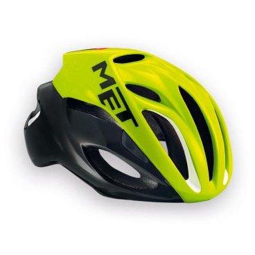Велошлем MET Rivale Safety, желто-черныйВелошлемы<br>Rivale - лёгкий и современный шлем от Met, который отлично показал себя при испытаниях в аэродинамической трубе. Особая форма этого шлема позволяет гонщику экономить до 3 ватт мощности при скорости в 50 км/ч (по сравнению с аналогичными моделями), что действительно немало. Заметим также, что при этом Rivale стильно выглядит и отлично вентилируется. Оптимальный выбор для тех, кто серьёзно относится к соревнованиям и стремится показывать наилучшие результаты.<br><br><br><br>ОСОБЕННОСТИ<br><br><br><br>Монолитная конструкция – пенопластовый внутренник впаян в жёсткий корпус шлема<br><br>Большие отверстия для вентиляции<br><br>Сменные внутренние накладки из гипоаллергенного материала<br><br>Фирменная система застёжек под названием Safe-T Advanced<br><br>Стропы застёжек выполнены из сверхлёгкого текстиля<br><br>Светоотражающая наклейка сделает вас заметнее в тёмное время суток<br><br>Отвечает требованиям таких стандартов безопасности, как CE, AS и CPSC<br><br>Вес 230 гр.<br>