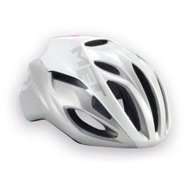 Велошлем MET Rivale, бело-серебристыйВелошлемы<br>Rivale - лёгкий и современный шлем от Met, который отлично показал себя при испытаниях в аэродинамической трубе. Особая форма этого шлема позволяет гонщику экономить до 3 ватт мощности при скорости в 50 км/ч (по сравнению с аналогичными моделями), что действительно немало. Заметим также, что при этом Rivale стильно выглядит и отлично вентилируется. Оптимальный выбор для тех, кто серьёзно относится к соревнованиям и стремится показывать наилучшие результаты.<br><br><br><br>ОСОБЕННОСТИ<br><br><br><br>Монолитная конструкция – пенопластовый внутренник впаян в жёсткий корпус шлема<br><br>Большие отверстия для вентиляции<br><br>Сменные внутренние накладки из гипоаллергенного материала<br><br>Фирменная система застёжек под названием Safe-T Advanced<br><br>Стропы застёжек выполнены из сверхлёгкого текстиля<br><br>Светоотражающая наклейка сделает вас заметнее в тёмное время суток<br><br>Отвечает требованиям таких стандартов безопасности, как CE, AS и CPSC<br><br>Вес 230 гр.<br>