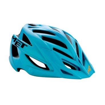 Велошлем MET Terra, матовый голубо-черныйВелошлемы<br>Новый шлем от Met, разработанный специально для катания в стиле ол-маунтин. В плане дизайна Terra напоминает легендарный шлем Met Anaxagore с такими же острыми краями отверстий для вентиляции. В остальном, это гораздо более прочная модель, рассчитанная на катание по самым техничным и опасным трассам эндуро. Шлем выпускается в одном размере, который, однако, регулируется от 54 до 61см.<br><br><br><br>ОСОБЕННОСТИ<br><br><br><br>Лёгкий и очень надёжный шлем для эндуро и ол-маунтин<br><br>Монолитная конструкция – пенопластовый внутренник впаян в жёсткий корпус шлема<br><br>Съёмный козырёк<br><br>Сменные внутренние накладки из гипоаллергенного материала<br><br>Размер: регулируемый (54-61см)<br><br>Вес: 280 граммов<br>