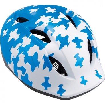 Велошлем детский MET Buddy, бело-синийВелошлемы<br>Традиционный детский шлем от Met – стильный, удобный и хорошо вентилируемый. Классическая обтекаемая форма, интегрированный козырёк, вставки из москитной сетки в вентиляционных отверстиях и внутренник из гипоаллергенного материала – обучение езде на двух колёсах теперь станет ещё веселее и безопаснее. <br><br>ОСОБЕННОСТИ<br><br>Оригинальный дизайн<br>Интегрированный козырёк<br>Удобная система регулировки размера<br>Гипоаллергенный внутренник<br>Вставки из москитной сетки в отверстиях для вентиляции<br><br>Вес: 210 граммов<br>