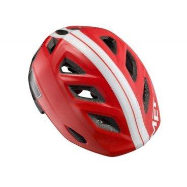 Велошлем детский MET Elfo Red 85, красныйВелошлемы<br>Детские шлемы Met – это не просто уменьшенные копии взрослых моделей. Все они разработаны с учётом особенностей детской анатомии и некоторых специфических требований. Например, затылочная часть сделана почти вертикальной, чтобы ребёнку было удобно сидеть на детском сидении. Elfo – модель для самых маленьких, и её основное отличие от большинства аналогов состоит в том, что шлем ни при каких обстоятельствах не соприкасается с родничковыми костями черепа – самой уязвимой областью детской головы.<br><br><br><br>ОСОБЕННОСТИ<br><br><br><br>Шлем для самых маленьких, созданный с учётом особенностей детской анатомии<br><br>Вертикальная затылочная часть обеспечивает комфорт при поездках на детском сидении<br><br>Светоотражающая наклейка на задней части<br><br>Вес: 230 граммов<br>
