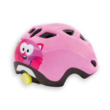 Велошлем детский MET Elfo, розовыйВелошлемы<br>Детские шлемы Met – это не просто уменьшенные копии взрослых моделей. Все они разработаны с учётом особенностей детской анатомии и некоторых специфических требований. Например, затылочная часть сделана почти вертикальной, чтобы ребёнку было удобно сидеть на детском сидении. Elfo – модель для самых маленьких, и её основное отличие от большинства аналогов состоит в том, что шлем ни при каких обстоятельствах не соприкасается с родничковыми костями черепа – самой уязвимой областью детской головы.<br><br><br><br>ОСОБЕННОСТИ<br><br><br><br>Шлем для самых маленьких, созданный с учётом особенностей детской анатомии<br><br>Вертикальная затылочная часть обеспечивает комфорт при поездках на детском сидении<br><br>Светоотражающая наклейка на задней части<br><br>Вес: 230 граммов<br>