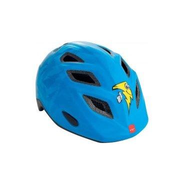 Велошлем детский MET Genio Blue Lightning, синийВелошлемы<br>Детские шлемы Met – это не просто уменьшенные копии взрослых моделей. Все они разработаны с учётом особенностей детской анатомии и некоторых специфических требований. Например, затылочная часть сделана почти вертикальной, чтобы ребёнку было удобно сидеть на детском сидении. Elfo – модель для самых маленьких, и её основное отличие от большинства аналогов состоит в том, что шлем ни при каких обстоятельствах не соприкасается с родничковыми костями черепа – самой уязвимой областью детской головы.<br><br><br><br>ОСОБЕННОСТИ<br><br><br><br>Шлем для самых маленьких, созданный с учётом особенностей детской анатомии<br><br>Вертикальная затылочная часть обеспечивает комфорт при поездках на детском сидении<br><br>Светоотражающая наклейка на задней части<br><br>Вес: 230 граммов<br>
