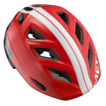 Велошлем детский MET Genio Red 85, красныйВелошлемы<br>Детские шлемы Met – это не просто уменьшенные копии взрослых моделей. Все они разработаны с учётом особенностей детской анатомии и некоторых специфических требований. Например, затылочная часть сделана почти вертикальной, чтобы ребёнку было удобно сидеть на детском сидении.<br><br><br><br>ОСОБЕННОСТИ<br><br><br><br>Лёгкий и стильный шлем, созданный с учётом особенностей детской анатомии<br><br>Вертикальная затылочная часть обеспечивает комфорт при поездках на детском сидении<br><br>Светоотражающая наклейка на задней части<br><br><br><br>Размер: регулируемый (52-57см)<br><br>Вес: 250 граммов<br>