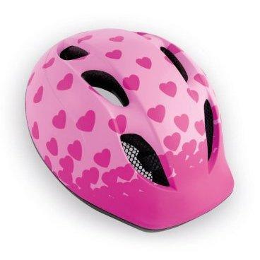 Велошлем детский MET Super Buddy Pink Hearts, розовыйВелошлемы<br>Традиционный детский шлем от Met – стильный, удобный и хорошо вентилируемый. Классическая обтекаемая форма, интегрированный козырёк, вставки из москитной сетки в вентиляционных отверстиях и внутренник из гипоаллергенного материала – обучение езде на двух колёсах теперь станет ещё веселее и безопаснее. <br><br><br><br>ОСОБЕННОСТИ<br><br><br><br>Оригинальный дизайн<br><br>Интегрированный козырёк<br><br>Удобная система регулировки размера<br><br>Гипоаллергенный внутренник<br><br>Вставки из москитной сетки в отверстиях для вентиляции<br>