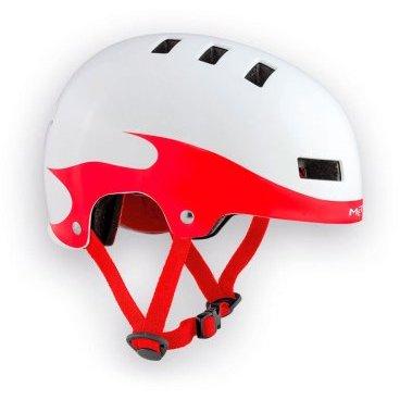 Велошлем детский MET Yo-Yo, бело-красныйВелошлемы<br>Высококачественный детский шлем-котелок, который отлично подойдёт как для катания в BMX-парке, так и для передвижения по городу. Одноэлементный корпус данной модели выполнен из ударопрочного пластика ABS, а в комплекте со шлемом вы получаете два набора внутренних прокладок разной толщины. Такой шлем очень удобен, отлично выглядит и обеспечит ребёнку эффективную защиту.<br><br><br><br>ОСОБЕННОСТИ<br><br><br><br>Высококачественный детский шлем-котелок<br><br>Одноэлементный корпус из ударопрочного пластика ABS<br><br>В комплекте – два набора внутренних прокладок разной толщины<br><br>Удобная застёжка<br><br>Отвечает требованиям таких стандартов безопасности, как CE и AS/NZ<br>