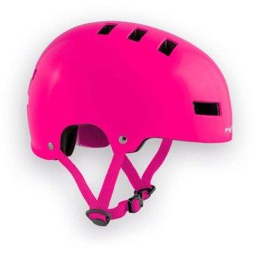 Велошлем детский MET Yo-Yo, розовыйВелошлемы<br>Высококачественный детский шлем-котелок, который отлично подойдёт как для катания в BMX-парке, так и для передвижения по городу. Одноэлементный корпус данной модели выполнен из ударопрочного пластика ABS, а в комплекте со шлемом вы получаете два набора внутренних прокладок разной толщины. Такой шлем очень удобен, отлично выглядит и обеспечит ребёнку эффективную защиту.<br><br><br><br>ОСОБЕННОСТИ<br><br><br><br>Высококачественный детский шлем-котелок<br><br>Одноэлементный корпус из ударопрочного пластика ABS<br><br>В комплекте – два набора внутренних прокладок разной толщины<br><br>Удобная застёжка<br><br>Отвечает требованиям таких стандартов безопасности, как CE и AS/NZ<br>