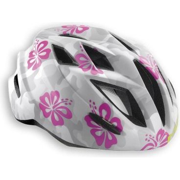 Велошлем подростковый MET Gamer Camouflage FlowersВелошлемы<br>Подростковые шлемы Met соответствуют тем же стандартам качества, которые производитель применяет для взрослых моделей, а кроме того, разработчики стараются не обойти вниманием отношение детей к своему внешнему виду и ношению защиты в целом. С точки зрения функциональности, Crackerjack ни в чём не уступает стандартным кросскантрийным шлемам от Met. Его пенопластовый внутренник впаян в жёсткий корпус – таким образом, шлем представляет собой монолитную конструкцию и обеспечивает лучшую абсорбацию ударов. Сменные внутренние накладки изготовлены из мягкого гипоаллергенного материала, а стропы застёжек – из сверхлёгкого текстиля. Благодаря встроенному светодиодному фонарю езда в тёмное время суток станет ещё безопаснее. Важная особенность шлема, которая, определённо, порадует родителей – это его регулируемый размер – от 52 до 57см.<br><br><br><br>ОСОБЕННОСТИ<br><br><br><br>Максимально лёгкий и технологичный подростковый шлем<br><br>Монолитная конструкция – пенопластовый внутренник впаян в жёсткий корпус шлема<br><br>Сменные внутренние накладки из гипоаллергенного материала<br><br>Вставки из москитной сетки в вентиляционных отверстиях<br><br>Встроенный светодиодный фонарь<br><br>Удобная система регулировки размера – от 52 до 57см<br><br>Вес: 265 граммов<br>