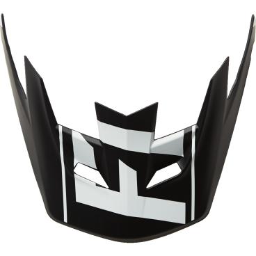 Козырек к шлему Fox Rampage Pro Carbon Visor, бело-черный, пластик, 04119-058-OSВелошлемы<br>Оригинальный козырёк для шлема Rampage Pro Carbon. Изготовлен из высокопрочного пластика.<br>