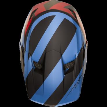 Козырек к шлему Fox Rampage Comp Creo Visor, сине-красный, пластик, 20302-149-OSВелошлемы<br>Оригинальный козырёк для шлема Rampage Comp Creo. Изготовлен из ударопрочного пластика.<br>