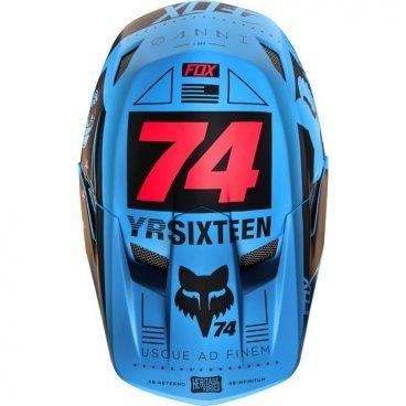 Козырек к шлему Fox Rampage Comp Visor, синий, пластик, 17762-002-OSВелошлемы<br>Оригинальный козырёк для шлема Fox Rampage Comp. Изготовлен из гибкого высокопрочного пластика.<br>