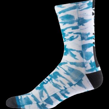 """Носки Fox Creo Trail 8-inch Sock, сине-белыйВелоноски<br>Высокие носки от Fox, выполненные из быстросохнущего синтетического материала, который хорошо отводит влагу от кожи. Вставки из эластичной сетчатой ткани и сглаженные швы обеспечивают дополнительный комфорт. Эти носки – одни из самых удобных, и они отлично подойдут как для катания на велосипеде, так и для любой другой активности.<br><br><br><br>ОСОБЕННОСТИ<br><br><br><br>Высокие (8"""") носки от Fox<br><br>Материал: полипропилен<br><br>Вставки из эластичной сетчатой ткани в критических местах<br><br>Сглаженные швы<br>"""