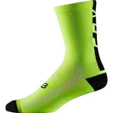 """Носки Fox DH 6-inch Socks Flow, желтыйВелоноски<br>Высокие носки от Fox, выполненные из быстросохнущего синтетического материала, который хорошо отводит влагу от кожи. Вставки из эластичной сетчатой ткани и сглаженные швы обеспечивают дополнительный комфорт. Эти носки – одни из самых удобных, и они отлично подойдут как для катания на велосипеде, так и для любой другой активности.<br><br><br><br>ОСОБЕННОСТИ<br><br><br><br>Высокие (6"""") носки от Fox<br><br>Материал: полипропилен<br><br>Вставки из эластичной сетчатой ткани в критических местах<br><br>Сглаженные швы<br>"""