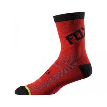"""Носки Fox DH 6-inch Socks, красно-черныйВелоноски<br>Высокие носки от Fox, выполненные из быстросохнущего синтетического материала, который хорошо отводит влагу от кожи. Вставки из эластичной сетчатой ткани и сглаженные швы обеспечивают дополнительный комфорт. Эти носки – одни из самых удобных, и они отлично подойдут как для катания на велосипеде, так и для любой другой активности.<br><br><br><br>ОСОБЕННОСТИ<br><br><br><br>Высокие (6"""") носки от Fox<br><br>Материал: полипропилен<br><br>Вставки из эластичной сетчатой ткани в критических местах<br><br>Сглаженные швы<br>"""