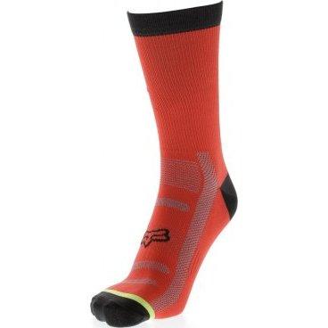 """Носки Fox DH 6-inch Socks, красныйВелоноски<br>Высокие носки от Fox, выполненные из быстросохнущего синтетического материала, который хорошо отводит влагу от кожи. Вставки из эластичной сетчатой ткани и сглаженные швы обеспечивают дополнительный комфорт. Эти носки – одни из самых удобных, и они отлично подойдут как для катания на велосипеде, так и для любой другой активности.<br><br><br><br>ОСОБЕННОСТИ<br><br><br><br>Высокие (6"""") носки от Fox<br><br>Материал: полипропилен<br><br>Вставки из эластичной сетчатой ткани в критических местах<br><br>Сглаженные швы<br>"""