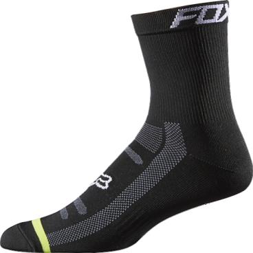 """Носки Fox DH 6-inch Socks, черныйВелоноски<br>Высокие носки от Fox, выполненные из быстросохнущего синтетического материала, который хорошо отводит влагу от кожи. Вставки из эластичной сетчатой ткани и сглаженные швы обеспечивают дополнительный комфорт. Эти носки – одни из самых удобных, и они отлично подойдут как для катания на велосипеде, так и для любой другой активности.<br><br><br><br>ОСОБЕННОСТИ<br><br><br><br>Высокие (6"""") носки от Fox<br><br>Материал: полипропилен<br><br>Вставки из эластичной сетчатой ткани в критических местах<br><br>Сглаженные швы<br>"""