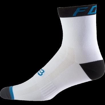 """Носки Fox Logo Trail 6-inch Sock Teal, бело-синийВелоноски<br>Специальные велосипедные носки Fox 6 TRAIL Socks, выполненные из быстросохнущего синтетического материала, который хорошо отводит влагу от кожи. Вставки из эластичной сетчатой ткани и сглаженные швы обеспечивают дополнительный комфорт. Эти носки – одни из самых удобных и отлично подойдут как для катания на велосипеде, так и для любой другой активности.<br><br>Высокие 6"""" носки от Fox<br><br>Материал: полиестер<br><br>Вставки из эластичной сетчатой ткани в критических местах<br><br>Сглаженные швы<br>"""