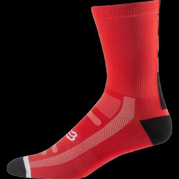 """Носки Fox Logo Trail 8-inch Sock Flame, красныйВелоноски<br>Высокие носки от Fox, выполненные из быстросохнущего синтетического материала, который хорошо отводит влагу от кожи. Вставки из эластичной сетчатой ткани и сглаженные швы обеспечивают дополнительный комфорт. Эти носки – одни из самых удобных, и они отлично подойдут как для катания на велосипеде, так и для любой другой активности.<br><br><br><br>ОСОБЕННОСТИ<br><br><br><br>Высокие (8"""") носки от Fox<br><br>Материал: полипропилен<br><br>Вставки из эластичной сетчатой ткани в критических местах<br><br>Сглаженные швы<br>"""