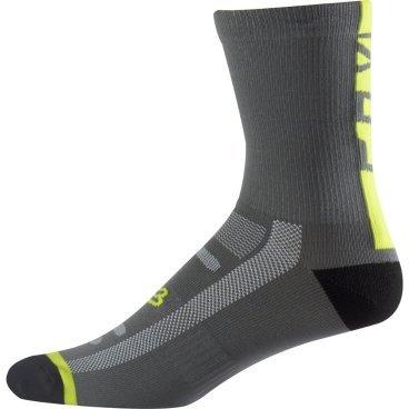 """Носки Fox Logo Trail 8-inch Sock, серо-желтыйВелоноски<br>Высокие носки от Fox, выполненные из быстросохнущего синтетического материала, который хорошо отводит влагу от кожи. Вставки из эластичной сетчатой ткани и сглаженные швы обеспечивают дополнительный комфорт. Эти носки – одни из самых удобных, и они отлично подойдут как для катания на велосипеде, так и для любой другой активности.<br><br><br><br>ОСОБЕННОСТИ<br><br><br><br>Высокие (8"""") носки от Fox<br><br>Материал: полипропилен<br><br>Вставки из эластичной сетчатой ткани в критических местах<br><br>Сглаженные швы<br>"""