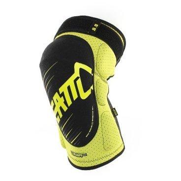 Наколенники Leatt 3DF 5.0 Knee Guard, желто-черныйЗащита колена<br>Мягкие наколенники, которые отлично защищают даже от сильных ударов, благодаря вставкам из патентованного пеноматериала со сложной трёхмерной структурой. Синтетический материал внутренника хорошо отводит влагу, внешняя часть усилена арамидным волокном для устойчивости к истиранию.<br><br>ОСОБЕННОСТИ<br><br>Лёгкие и удобные мягкие наколенники<br>Отвечают требованиям стандарта безопасности CE<br>Дополнительные накладки по бокам для защиты наиболее уязвимых частей колена<br>Силиконовые накладки на внутренней части предотвращают сползание<br>Внешняя часть усилена арамидным волокном для устойчивости к истиранию<br>Регулируемые застёжки для идеальной подгонки по ноге<br>