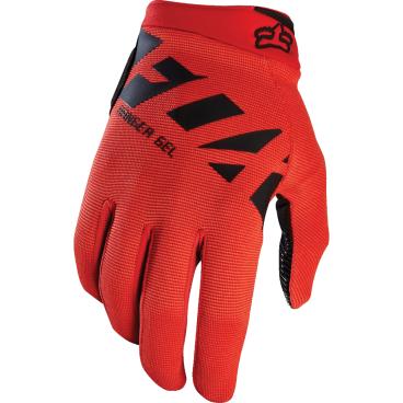 Велоперчатки Fox Ranger Gel Glove, красный (2017)Велоперчатки<br>Лёгкие и удобные перчатки с гелевыми вставками, обеспечивающими амортизацию и дополнительный комфорт при езде. Модель выполнена из дышащего синтетического материала, ладонь отделана тонкой искусственной кожей Clarino.<br><br>ОСОБЕННОСТИ<br><br>Ладонь из тонкой искусственной кожи Clarino с мягкими гелевыми вставками<br>Силиконовые накладки на кончиках пальцев для лучшего сцепления<br><br>Длина ладони<br>Размер: L (194-200 мм)<br>Размер: M (188-194 мм)<br>Размер: XL (200-206 мм)<br>Размер: S (182-188 мм)<br>Размер: XXL (206-212 мм)<br>