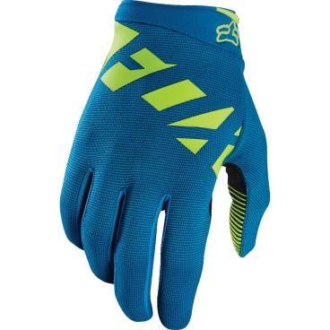 Велоперчатки Fox Ranger Glove Teal, синий (2017)Велоперчатки<br>Лёгкие эластичные перчатки, которые отлично подойдут для тёплого времени года. Верх модели выполнен из дышащей синтетической ткани, а ладонь отделана двойным слоем искусственной кожи Clarino.<br><br>ОСОБЕННОСТИ<br><br>Верх выполнен из дышащей ткани с оригинальным узором<br>Ладонь из двухслойной искусственной кожи Clarino<br>Накладка из микрофибры на большом пальце<br>Удобная застёжка на липучке<br> Ширина: 105мм<br><br>Длина среднего пальца: 85 мм<br><br>Ладонь из тонкой искусственной кожи Clarino с мягкими гелевыми вставками<br>Удобная компактная застёжка<br>Длина ладони<br>Размер: L (194-200 мм)<br>Размер: M (188-194 мм)<br>Размер: XL (200-206 мм)<br>Размер: S (182-188 мм)<br>Размер: XXL (206-212 мм)<br>