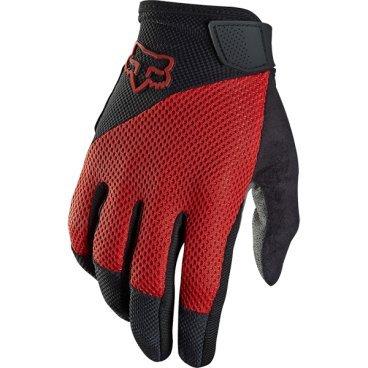 Велоперчатки Fox Reflex Gel Glove, красный (2016)Велоперчатки<br>Лёгкие и удобные перчатки с гелевыми вставками, обеспечивающими амортизацию и дополнительный комфорт при езде. Модель выполнена из дышащего синтетического материала, ладонь отделана двухслойной искусственной кожей Clarino.<br> <br>ОСОБЕННОСТИ<br> <br>Ладонь из двухслойной искусственной кожи Clarino с мягкими гелевыми вставками<br>Силиконовые накладки на кончиках пальцев для лучшего сцепления<br>Большой палец отделан микрофиброй<br>Удобная компактная застёжка<br>Длина ладони<br>Размер: L (194-200 мм)<br>Размер: M (188-194 мм)<br>Размер: XL (200-206 мм)<br>Размер: S (182-188 мм)<br>Размер: XXL (206-212 мм)<br>