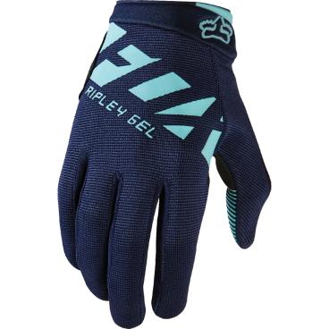 Велоперчатки женские Fox Ripley Gel Womens Glove, синий (2017)Велоперчатки<br>FOX WOMENS RIPLEY GEL GLOVE это суперкомфортные женские перчатки с длинным пальцем для езды на горном велосипеде:-  перчатки с длинным палецем - это отличный выбор для езды по бездорожью;- гелевые вставки на ладошках обеспечат максимальный уровень комфорта и предовратят забивание мышц при длительных поездках;<br><br>- застежка-липучка на запястье позволит легко как зафиксировать, так и снять перчатки с ладони.<br><br>Длина ладони<br>Размер: S (170-176 мм)<br>Размер: M (176-182 мм)<br>Размер: L (182-188 мм)<br>Размер: XL (188-194 мм)<br>