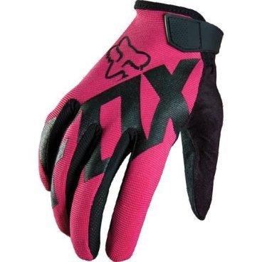 Велоперчатки женские Fox Ripley Womens Glove, розовый (2016)Велоперчатки<br>Лёгкие и очень удобные перчатки, созданные специально для женских рук. Верх модели выполнен из  плотного эластичного текстиля, а ладонь отделана двойным слоем искусственной кожи Clarino. <br><br>ОСОБЕННОСТИ<br><br>Материал: текстиль, искусственная кожа<br>Силиконовые накладки на кончиках пальцев для лучшего сцепления<br>Большой палец отделан микрофиброй<br>Удобная компактная застёжка<br><br>Длина ладони<br>Размер: S (170-176 мм)<br>Размер: M (176-182 мм)<br>Размер: L (182-188 мм)<br>Размер: XL (188-194 мм)<br>