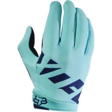 Велоперчатки женские Fox Ripley Womens Glove, синий (2017)Велоперчатки<br>Лёгкие и очень удобные перчатки, созданные специально для женских рук. Верх модели выполнен из  плотного эластичного текстиля, а ладонь отделана двойным слоем искусственной кожи Clarino. <br><br>ОСОБЕННОСТИ<br><br>Материал: текстиль, искусственная кожа<br>Силиконовые накладки на кончиках пальцев для лучшего сцепления<br>Большой палец отделан микрофиброй<br>Удобная компактная застёжка<br><br>Длина ладони<br>Размер: S (170-176 мм)<br>Размер: M (176-182 мм)<br>Размер: L (182-188 мм)<br>Размер: XL (188-194 мм)<br>