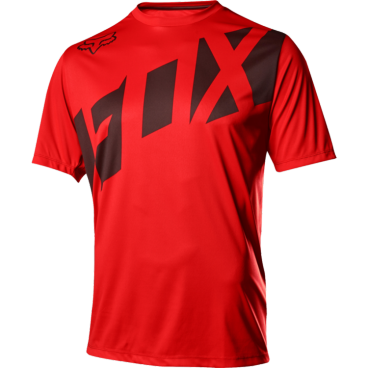 Велофутболка Fox Ranger SS, красно-черныйВелофутболка<br>Джерси лаконичного дизайна, выполненное из тонкой синтетической ткани. Модель отлично дышит и быстро сохнет, а удлинённая задняя часть хорошо прикрывает поясницу во время езды.<br><br>ОСОБЕННОСТИ<br><br>Материал: 100% полиэстер<br>Швы сглажены для дополнительного комфорта<br>Удлинённая задняя часть прикрывает поясницу во время езды<br>Вставки из сетчатого материала для лучшей вентиляции<br>Воротник на молнии<br>Лоскут для протирки очков на внутреннем шве<br>Выход для наушников<br>