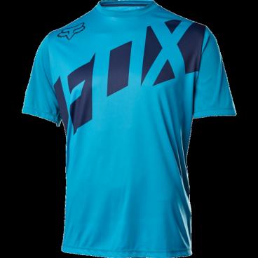 Велофутболка Fox Ranger SS, голубойВелофутболка<br>Джерси лаконичного дизайна, выполненное из тонкой синтетической ткани. Модель отлично дышит и быстро сохнет, а удлинённая задняя часть хорошо прикрывает поясницу во время езды.<br><br>ОСОБЕННОСТИ<br><br>Материал: 100% полиэстер<br>Швы сглажены для дополнительного комфорта<br>Удлинённая задняя часть прикрывает поясницу во время езды<br>Вставки из сетчатого материала для лучшей вентиляции<br>Воротник на молнии<br>Лоскут для протирки очков на внутреннем шве<br>Выход для наушников<br>