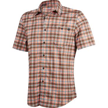Велорубашка Fox Rivet SS Jersey Rust, коричневыйВелофутболка<br>Оригинальное джерси от Fox, выполненное в виде классической клетчатой рубашки с коротким рукавом. Как бы то ни было, при этом данная модель остаётся максимально удобной и функциональной – она изготовлена из эластичного текстиля, который быстро сохнет и хорошо отводит влагу от тела.<br><br>ОСОБЕННОСТИ<br><br>Материал: полиэстер<br>Оригинальный дизайн<br>Нагрудный карман с застёжкой на пуговице<br>Лоскут для протирки очков на внутреннем шве<br>Светоотражающий принт в виде логотипа бренда на рукаве<br>