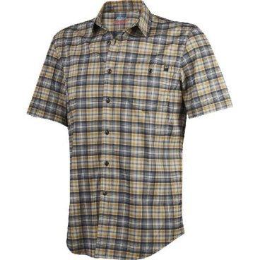Велорубашка Fox Rivet SS Jersey, черныйВелофутболка<br>Оригинальное джерси от Fox, выполненное в виде классической клетчатой рубашки с коротким рукавом. Как бы то ни было, при этом данная модель остаётся максимально удобной и функциональной – она изготовлена из эластичного текстиля, который быстро сохнет и хорошо отводит влагу от тела.<br><br>ОСОБЕННОСТИ<br><br>Материал: полиэстер<br>Оригинальный дизайн<br>Нагрудный карман с застёжкой на пуговице<br>Лоскут для протирки очков на внутреннем шве<br>Светоотражающий принт в виде логотипа бренда на рукаве<br>