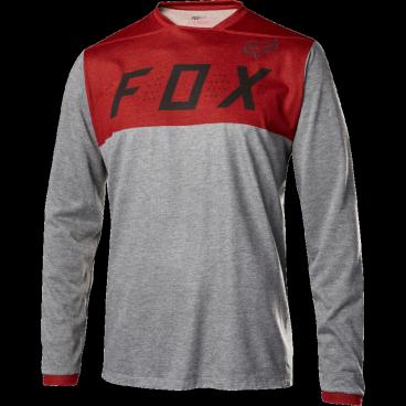 Велоджерси Fox Indicator LS, красныйВелоджерси<br>Джерси с длинным рукавом, которое отлично подойдёт для трейлрайдинга и катания в стиле ол-маунтин. Модель отлично дышит и быстро сохнет, а удлинённая задняя часть хорошо прикрывает поясницу во время езды.<br><br>ОСОБЕННОСТИ<br><br>Материал: 100% полиэстер<br>Швы сглажены для дополнительного комфорта<br>Удлинённая задняя часть прикрывает поясницу во время езды<br>Вставки из сетчатого материала для лучшей вентиляции<br>Оригинальная графика<br>Лоскут для протирки очков на внутреннем шве<br>Выход для наушников<br>