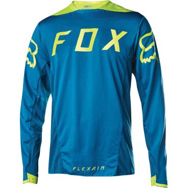 Велоджерси Fox Flexair LS, желто-голубойВелоджерси<br>Абсолютно новое джерси с длинным рукавом – результат длительной совместной работы дизайнеров и райдеров команды Fox. На протяжении всего прошлого года быстрейшие гонщики команды ездили в этих джерси, и джерси показали себя более чем достойно. Данная модель выполнена из эластичной синтетической ткани, которая быстро сохнет и хорошо отводит влагу от тела, а бесшовный воротник и манжеты рукавов обеспечивают дополнительный комфорт, дабы ничто не отвлекало вас от достижения высочайших результатов.<br><br>ОСОБЕННОСТИ<br><br>Материал: полиэстер/спандекс<br>Самое лёгкое джерси от Fox – на 25% легче стандартных<br>Бесшовный воротник и манжеты рукавов для максимального комфорта<br>