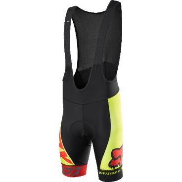 Велотрусы с лямками Fox Ascent Pro Bib, черно-желтый, полиэстерВелошорты<br>Классические велошорты с лямками, выполненные из высококачественной эластичной ткани итальянского производства. Основные особенности данной модели – слегка удлинённый крой для лучшей защиты ног, а также мягкие вставки и накладки из устойчивого к истиранию материала в критических местах. <br><br>ОСОБЕННОСТИ:    <br><br>    Материал: полиэстер <br>    Мягкие вставки и накладки из устойчивого к истиранию материала в критических местах <br>    Слегка удлинённый крой для лучшей защиты ног<br>