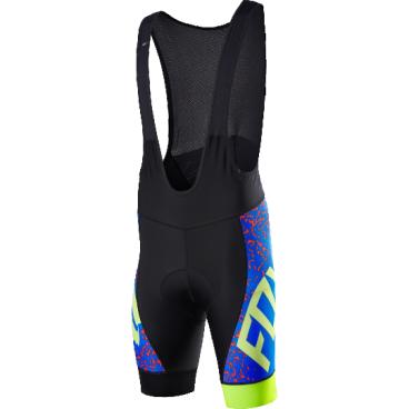 Велотрусы с лямками Fox Ascent Comp Bib, черно-синий, полиэстерВелошорты<br>Классические велошорты с лямками, выполненные из высококачественной эластичной ткани итальянского производства. Основные особенности данной модели – мягкие вставки в критических местах, карманы, позволяющие возить с собой всё необходимое, и светоотражающий принт, который сделает вас заметнее в тёмное время суток.<br><br>ОСОБЕННОСТИ<br><br>Материал: полиэстер<br><br>Мягкие вставки в критических местах<br><br>Небольшие карманы в задней части<br><br>Светоотражающий принт<br>