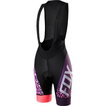 Велотрусы женские с лямками Fox Switchback Comp Womens Bib, черно-фиолетовый, полиэстерВелошорты<br>Дизайнеры Fox знают, что девушки катаются не меньше и не хуже парней, и новую женскую коллекцию от Fox создали сами гонщицы – для других гонщиц. Switchback Comp Bib – традиционные велошорты с лямками, выполненные из высококачественной эластичной ткани итальянского производства. Основные особенности данной модели – мягкие вставки в критических местах, карманы, позволяющие возить с собой всё необходимое, и светоотражающий принт, который сделает вас заметнее в тёмное время суток. <br><br>ОСОБЕННОСТИ: <br><br>    Материал: полиэстер <br>    Мягкие вставки в критических местах <br>    Небольшие карманы в задней части <br>    Светоотражающий принт<br>