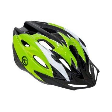 Велошлем KELLYS BLAZE, МТБ, M/L (58-61см), черно-зеленыйВелошлемы<br>Велошлем - это вид экипировки, призванный защищать голову байкера от травм, вызванных падением или столкновением.<br><br>ВЕЛООЛИМП настоятельно рекомендует одновременно с покупкой велосипеда приобрести защитный шлем и надевать его каждый раз, отправляясь на велопрогулку.<br><br>Шлем BLAZE - доступный по цене и отменный по качеству шлем европейского бренда KELLYS, специализирующегося на производстве велоаксессуаров с 1989 года.<br><br>KELLYS BLAZE имеет в своем корпусе 19 отверстий, функция которых - терморегуляция и облегчение конструкции.<br><br>Снаружи - прочный пластик, внутри - мягкий вспененный материал - пенополистирол. Спереди - козырек для защиты от солнечных лучей, сзади - пластиковая система регулировки шлема по размеру.<br>